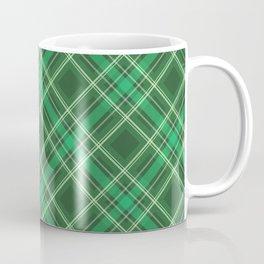 Green Plaid, Green Tartan, Yellow Stripes Coffee Mug