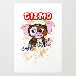 GIZMO - GREMLINS ILLUSTRATION  Art Print