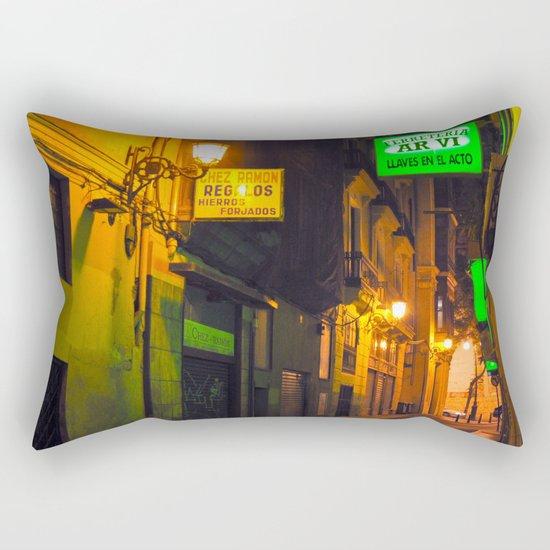 Nocturnal Alley - Valencia - Spain  Rectangular Pillow