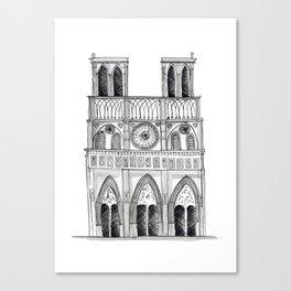 Notre Dame Sketch Canvas Print