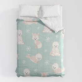 ARCTIC FRIENDS (green) Comforters