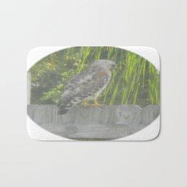 Falcon gazing Bath Mat
