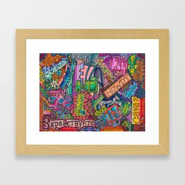Hello - Greetings in many languages Framed Art Print