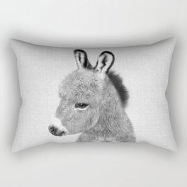 Donkey - Black & White Rectangular Pillow