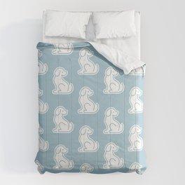 Dog Blue Pattern #1 Comforters