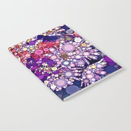 Dotty Floral Abstract Notebook