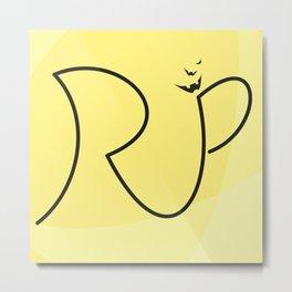 H A L L O W E E N  Special R.I.P. Signature Designed by Atalay Visuals Metal Print