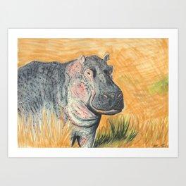 It's Hippo Art Print