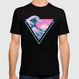 Vaporwave Aesthetic 90's Great Wave Off Kanagawa T-shirt