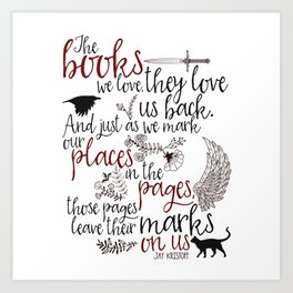 Those Pages Leave Their Marks Art Print