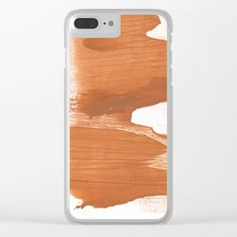 Peru hand-drawn wash drawing texture Clear iPhone Case