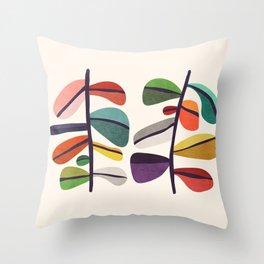 Plant specimens Throw Pillow