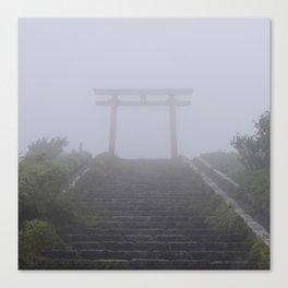 Japanese Torii in the Fog Canvas Print