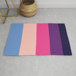 Pastel Purple Geometric Pattern Rug