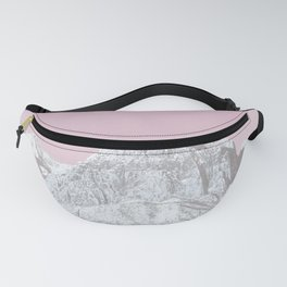 Mojave Pink Sky // Red Rock Canyon Las Vegas Desert Landscape Snowstorm Moon Mountains Fanny Pack