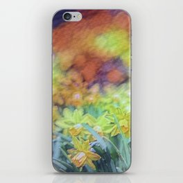 Tie Dyed Daffodils iPhone Skin