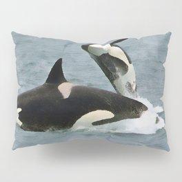 Playful Orcas Pillow Sham