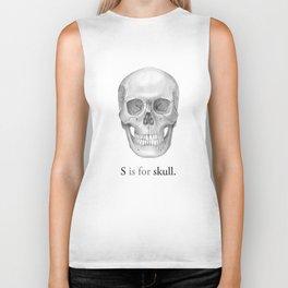 S is for skull Biker Tank