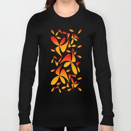 Pattern 160 red yellow Long Sleeve T-shirt