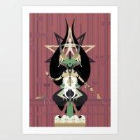 baphomet Art Prints featuring Baphomet by Sparganum