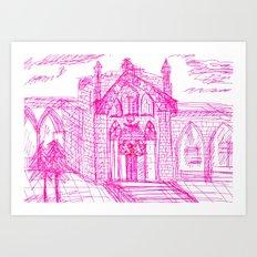 Building sketch Art Print