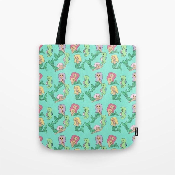 Kitsch Mermaid Tote Bag