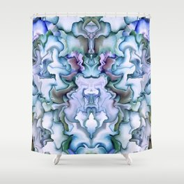 Abstract graphic mirror 2 Shower Curtain
