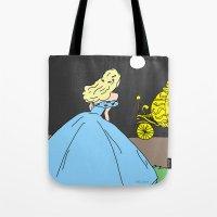 cinderella Tote Bags featuring Cinderella by RaJess