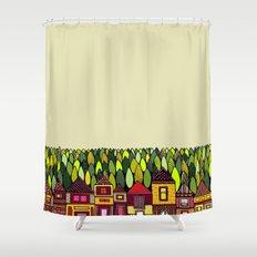 Train Back Home Shower Curtain