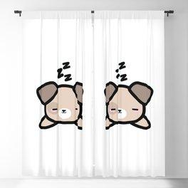 Cute Sleeping Dog Kawaii Style Blackout Curtain