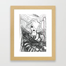 Ms Biro (Candles.) Framed Art Print