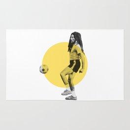 Marley playing soccer Rug