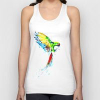 military Tank Tops featuring Military Macaw by ARealpe