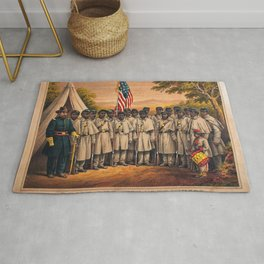 1863 Philadelphia, Pennsylvania African American Civil War Requirement Broadside Advertisement Poste Rug