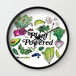 Plant Powered Wall Clock