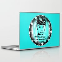 audrey Laptop & iPad Skins featuring Audrey by SwanniePhotoArt