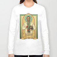 teacher Long Sleeve T-shirts featuring White the Teacher by Ramon Villalobos
