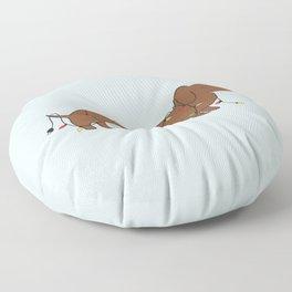 SAUSAGE DOG CHRISTMAS TREE Floor Pillow