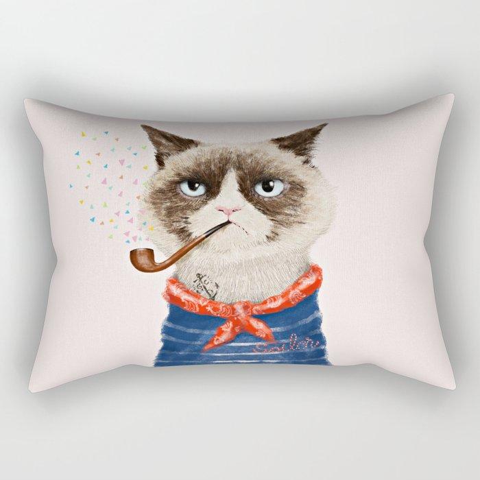 Sailor Cat V Rectangular Pillow