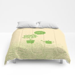 Plant & Watering Can Comforters