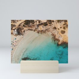 Formentera II Drone Aerial Photo Mini Art Print