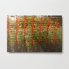 caged flowers 1 Metal Print