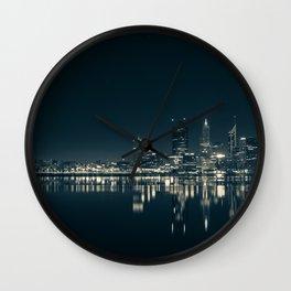 Perth in Australia Night Landscape Wall Clock