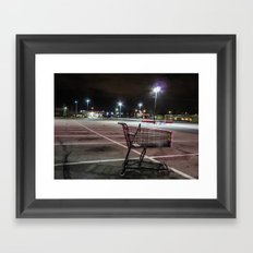 Late Night Shopping Framed Art Print