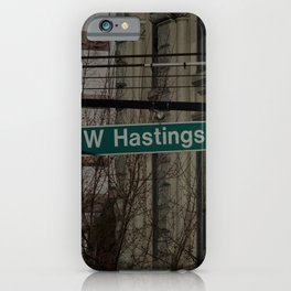 West Hastings Vancouver iPhone Case