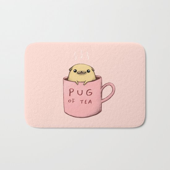 Pug of Tea Bath Mat