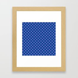 Lavender Blue Polka Dot Pattern Framed Art Print