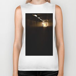 Old lady light at the end of the tunnel Biker Tank
