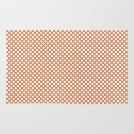 Copper Tan and White Polka Dots Rug