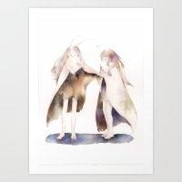 fairies Art Prints featuring fairies by accaruru
